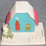 Click here to enlarge image and see more about item pen-49: Vintage Paper Christmas Church