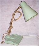 Click here to enlarge image and see more about item rum-119: Unusual Goose Neck Desk Lamp w/ Pen Rest