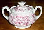 Grindly Covered Sugar Bowl Printemps Pink