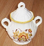 Metlox Golden Garden Sugar Bowl w lid