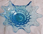 Click to view larger image of Fenton Thumbprint Folded Bonbon Colonial Blue (Image1)