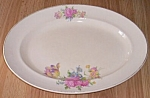 Paden City Pottery Platter Rust Tulip