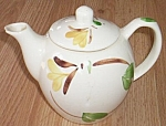 Click here to enlarge image and see more about item rum-228: Hand Painted Vintage Teapot Blue Ridge?