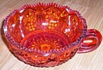 Click to view larger image of Amberina  Handled Bowl Smith Glass Quintec (Image1)
