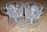 4 Pinwheel and Stars Punch Cups Smith Glass