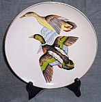Hand Painted Plate with Mallards