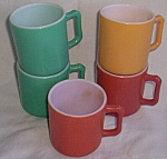 Click here to enlarge image and see more about item rum-265: 6 Vintage Hazel Atlas Small Coffee Mugs
