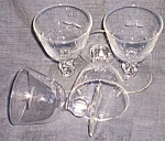 4 Lovely Cut Crystal Wine Stems