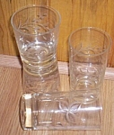 4 Viking Glass Glasses Tumbler & Juice Lotus