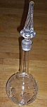Stunning Cut Floral Decanter Twisted Stopper