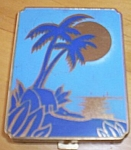 Click here to enlarge image and see more about item rum-360: Vintage Compact Island Scene