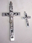 Click here to enlarge image and see more about item rum-401: Matched Set Crucifixes
