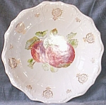 Porcelain Serving Bowl Apple Center Dresden China