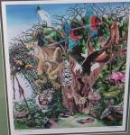 Click to view larger image of S. Andreasey Signed Numbered Print Hidden Animals (Image2)