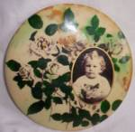 Click here to enlarge image and see more about item rum-534: Antique Celluloid Infant Picture