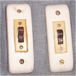 2 Antique Porcelain Over-the-wall Light Switch Free Shipping