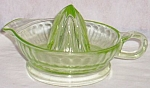 Click here to enlarge image and see more about item rum-68: Wonderful Vaseline Glass Juice Reamer
