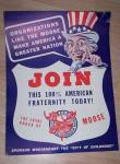 1940�s Moose Club Recruiting Poster