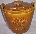 Click here to enlarge image and see more about item rum_311: Franciscan Harvest Cookie Jar Complete