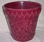 Click here to enlarge image and see more about item rum_313: Large McCoy Jardinière Maroon