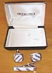 Men's Vintage Cuff Links Tie Clip Marked W