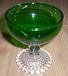Anchor Hocking Forest Green Bubbles Cocktail