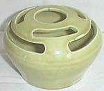 Click to view larger image of Vintage Camark Flower Frog #095 Olive Green (Image1)