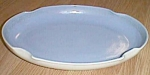 Click here to enlarge image and see more about item scan-100: Depression Era Flower Tray Blue