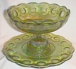 Click here to enlarge image and see more about item scan-88: Manhattan Punch Bowl Moss Green Bartlett Collins