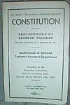 Click here to enlarge image and see more about item sn-13: Constitution of Brotherhood of Railroad Trainmen Book
