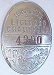1926 Minnesota Licensed Chauffeur Badge #4390 Free Shipping