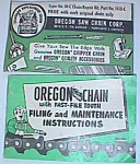 1954 Oregon Saw Chain Corp. Repair Kit Booklet