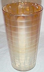 Click here to enlarge image and see more about item sn-8: Imperial Carnival Glass Banded Rib Lemonade Tumbler