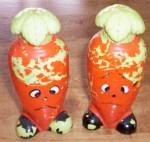 Anthropomorphic Carrot Salt and Pepper Shaker
