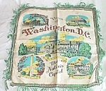 Vintage Souvenir Throw Pillow Cover Silk Washington DC Free Shipping