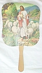 Click to view larger image of Vintage Funeral Home Paddle Fan Kingman Kansas Free Shipping (Image1)