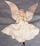 Click here to enlarge image and see more about item tw-4: Antique Composition Angel Tree Topper