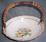 Click here to enlarge image and see more about item tw-66: Vintage Luster Ring Basket Bowl Floral Center