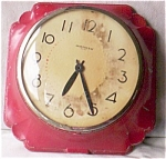 Click here to enlarge image and see more about item twig-88: Vintage Cast Metal 8 Day Wall Clock Aristocrat