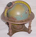 Click here to enlarge image and see more about item uk-106: Vintage Globe on Stand Decanter