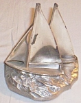 Click here to enlarge image and see more about item uk-113: PM Craftsman Sailboat Book End