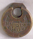 Click here to enlarge image and see more about item uk-97: Antique Padlock Empire 6 Lever