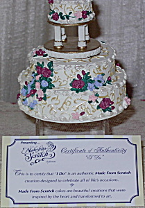 Enesco Made from Scratch Resin Wedding Cake I DO (Image1)