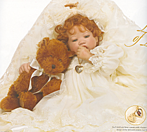 Lee Middleton Christening Doll Locket Of Love