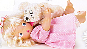 Precious Moments Collectible Doll You Tickle Me Pink (Image1)