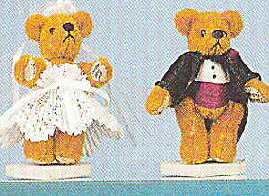 World of Miniature Bears Bride and Groom HELEN & HOWARD (Image1)