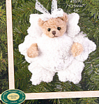 Click here to enlarge image and see more about item BB19: Bearington Teddy Bear Ornament CRYSTAL