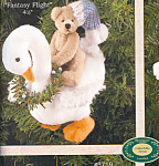 Click here to enlarge image and see more about item BB20: Bearington Teddy Bear FANTASY FLIGHT ORNAMENT