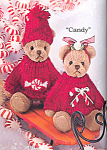 Click here to enlarge image and see more about item BB21: Bearington Teddy Bear Ornament Set Candy and Dandy