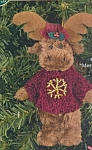 Click here to enlarge image and see more about item BB24: Bearington Bears Ornament MERRY MOOSE